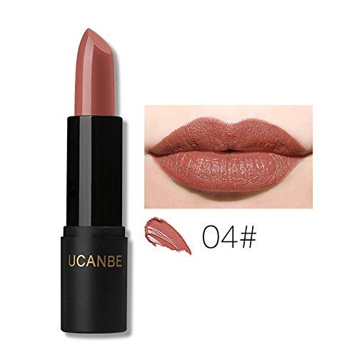 8 Colors Moisturizing Smooth Lipsticks Makeup Matte Shimmer Waterproof Long Lasting Lips Stick Gloss Cosmetics Set 04 Salon Latte