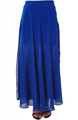 Humble Chic Women's Chiffon Maxi Skirt - SMALL - Sheer Long Skirt