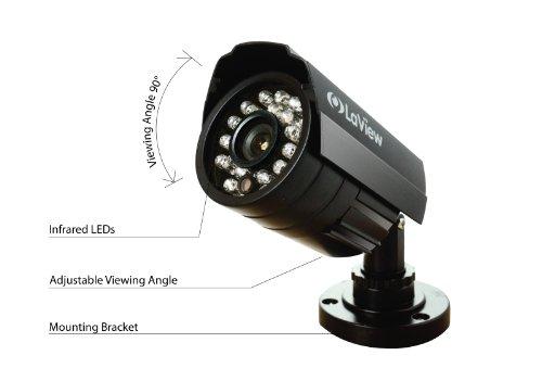 LaView LV-KDV0404B5B-500GB D1 RealTime 4 Channel DVR w/ 4 x 520TVL Camera & 500GB HDD-Remote Access via Internet & SmartPhone