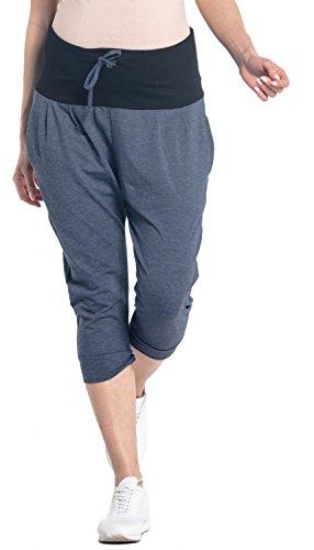 Denim Maternity Crop Pants - 7