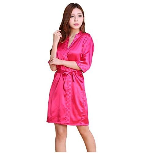 c024b68ecd4499 Menschwear Donna Pigiama Due Set di Pigiama a Maniche Corta Classici Abito  Camicia da Notte (