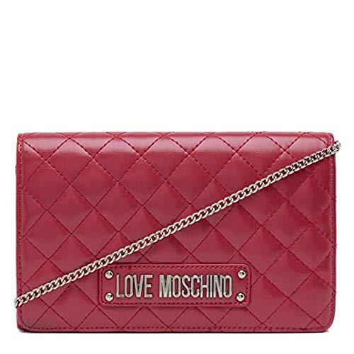 Love Moschino - Bolso de mano acolchado para mujer (napa sintética), Red (Rosso), 15x10x15 centimeters (W x H x L)