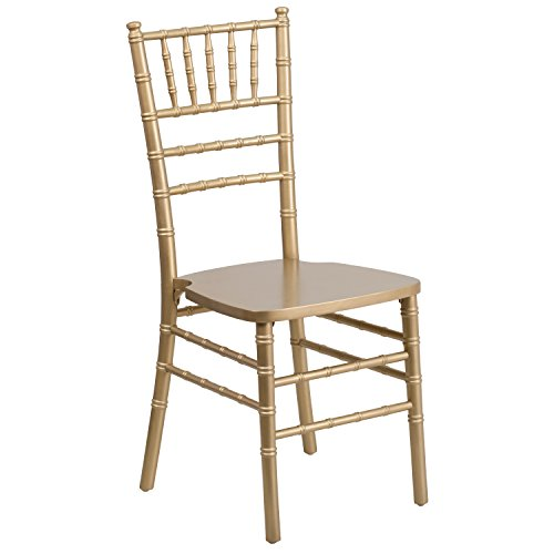(Flash Furniture HERCULES Series Gold Wood Chiavari Chair)