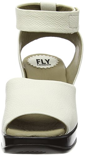 FLY London HERT633FLY - Sandalias con cuña Mujer Blanco - Off White (OFFWHITE)