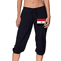 North Yemen Flag Cute Women S Cropped Trousers Casual Pants Jogger Sweatpants