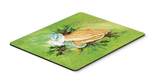 (Caroline's Treasures AAH5985MP Praying Hands with Holly Leaves Mouse Pad, Hot Pad or Trivet, Large,)