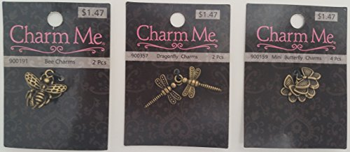 hobby-lobby-charm-me-r-dragonfly-bees-butterfly-charms-set-antique-gold