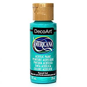 Deco Art Americana Acrylic Paint, 2 oz, Peacock Teal