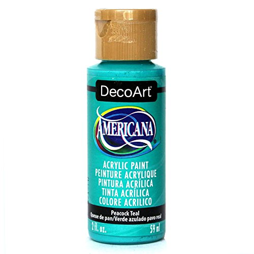 DecoArt Americana Acrylic Paint, 2 oz, Peacock -