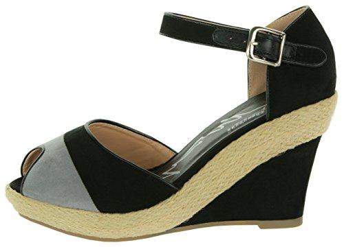 Des Casual Velours Chaussures À Femme La Zip Avec Summer Été Italienne Shoes Sandales Talons Mode Élégants Beppi 36 41 Noir En 8qIwOXcZ