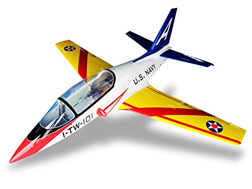 Harlock RC Viper Jet 140 ARF Kit – Navy Military Scheme w/ Yellow Wings (Landing Gear Assembly Not Included)