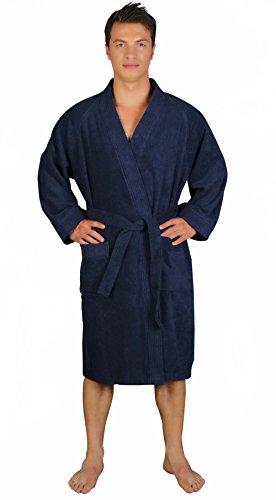 Arus Men's Short Kimono Lightweight Bathrobe Turkish Cotton Terry Cloth Robe