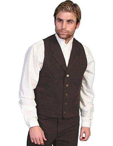 - Scully RW041X-WAL-2XT-B-T Mens Rangewear Frontier Vest, Walnut, 2XT