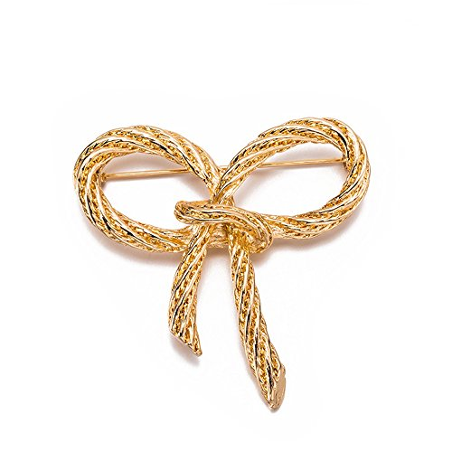 Retro Gold Bowknot Bow Brooch for Women - Brooch Pin Gift Jewelry