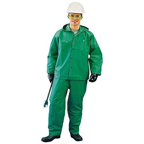 Chemical Suit for Men and Women Waterproof Hooded Heavy Duty Hazmat Rain (2XL, Green, 1 Piece)