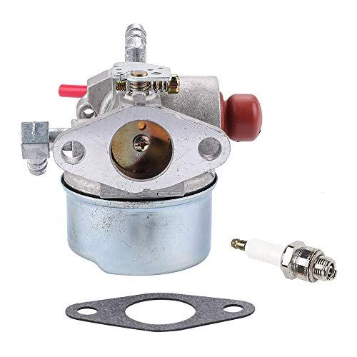 (Carburetor for Tecumseh LV195EA 640303 640271 640350 LV195XA Lawn Mower Carb with Spark Plug Gasket Parts Kit)