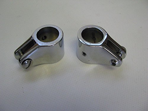 276160 Sea-Dog Line Pair (2) of Zinc Chrome Plated Jaw Slide Top Fitting SURPLUS 132-2618