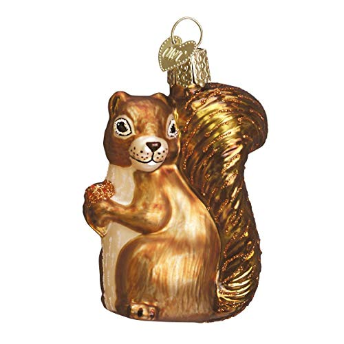 Old World Christmas Ornaments: Squirrel Glass Blown Ornaments for Christmas Tree (Squirrel Tree Ornament)
