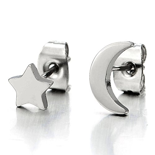 Stainless Steel Plain Earrings Womens product image