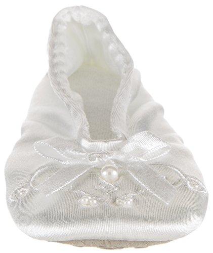 Zapatillas Isotoner Satin Pearl Ballerina Girls Blancas