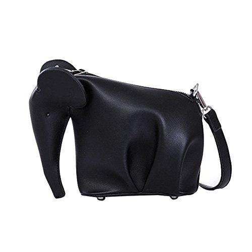 de una hombro elefante Bolso diseño piel correa de de para el con Badiya sintética negro wzXq4WZXxH
