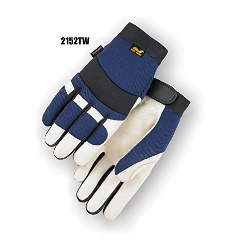 Majestic 2152TW Bald Eagle Thinsulate Lined Pigskin Mechanics Gloves Waterproof (X-SMALL)