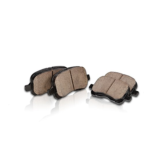 FRONT Performance Grade Quiet Low Dust [4] Ceramic Brake Pads + Dual Layer Rubber Shims CP10260B