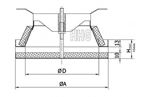 Gr/ö/ße:DN150 Domodul /® Teil Einschub-R/ückstauklappe Stahl verzinkt