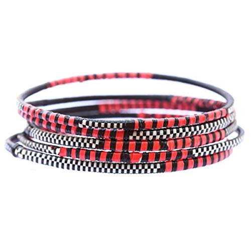 1 Recycled Bangle Bracelet - Style: Buffalo