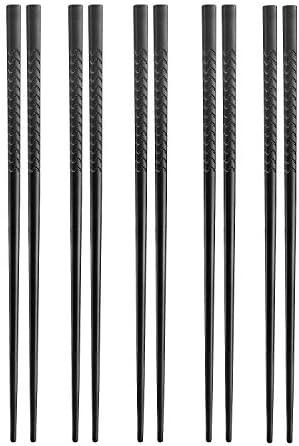 Palillos Reutilizables Chantwon 10 Pares de 20 Palillos de Aleaci/ón Lavables Para Platos de Sushi o Arroz