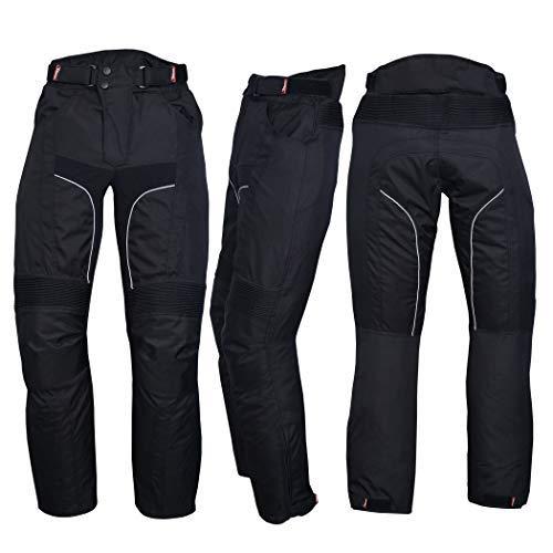 NORMAN Hommes Moto Imperm/éable Cordura Textile Pantalon Armures Noir