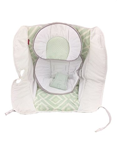 Fisher Price Rock N' Play Sleeper Replacement Pad Cushion (DNK64 Green White PAD)
