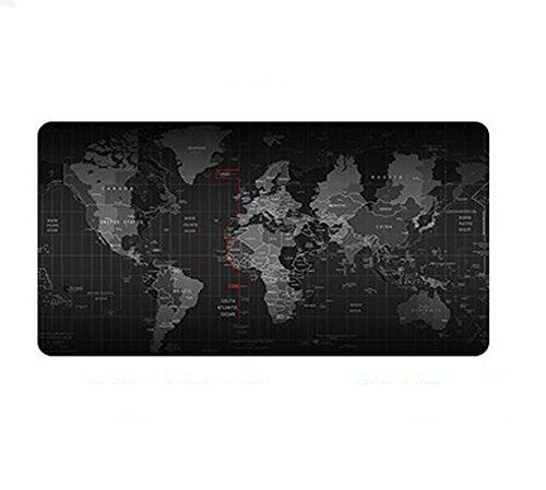 Senswalan XL Extended Gaming Mouse Pad Non-Slip Waterproof Large Computer Mouse keyboard Mat For Desktop, Laptop, Keyboard, Consoles & More (map, 31.5x11.8Inchx2mm)