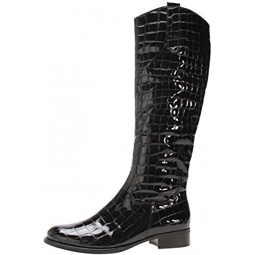Gabor Brook M 91.639.87Negro Patente Croc Botas