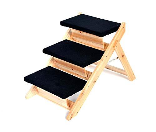 Maxx Escalier Pliable pour Chien en Bois avec 3 marches 62 x 42 x 49 cm