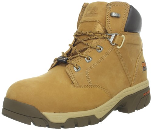 Timberland PRO Mens Helix 6 Waterproof IN Comp Toe Work Boot Wheat Nubuck