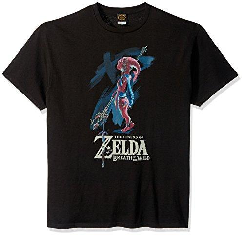 Nintendo Mens Zelda Breath Of The Wild Mipha Paint T Shirt  Black  Medium
