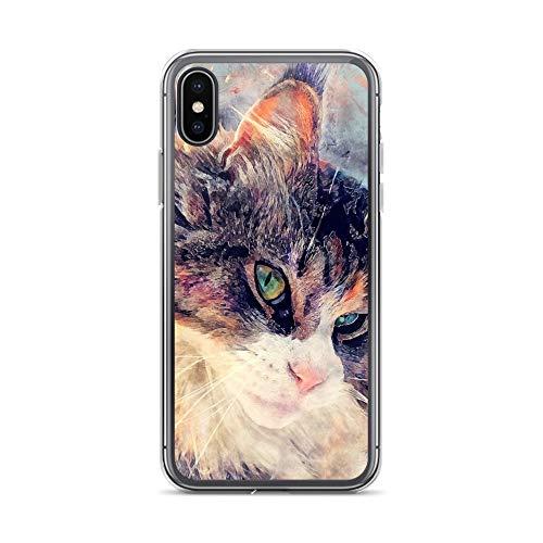 iPhone X/XS Case Anti-Scratch Creature Animal Transparent Cases Cover Cat Jasper Animals Fauna Crystal Clear (Jaden Smith Case)