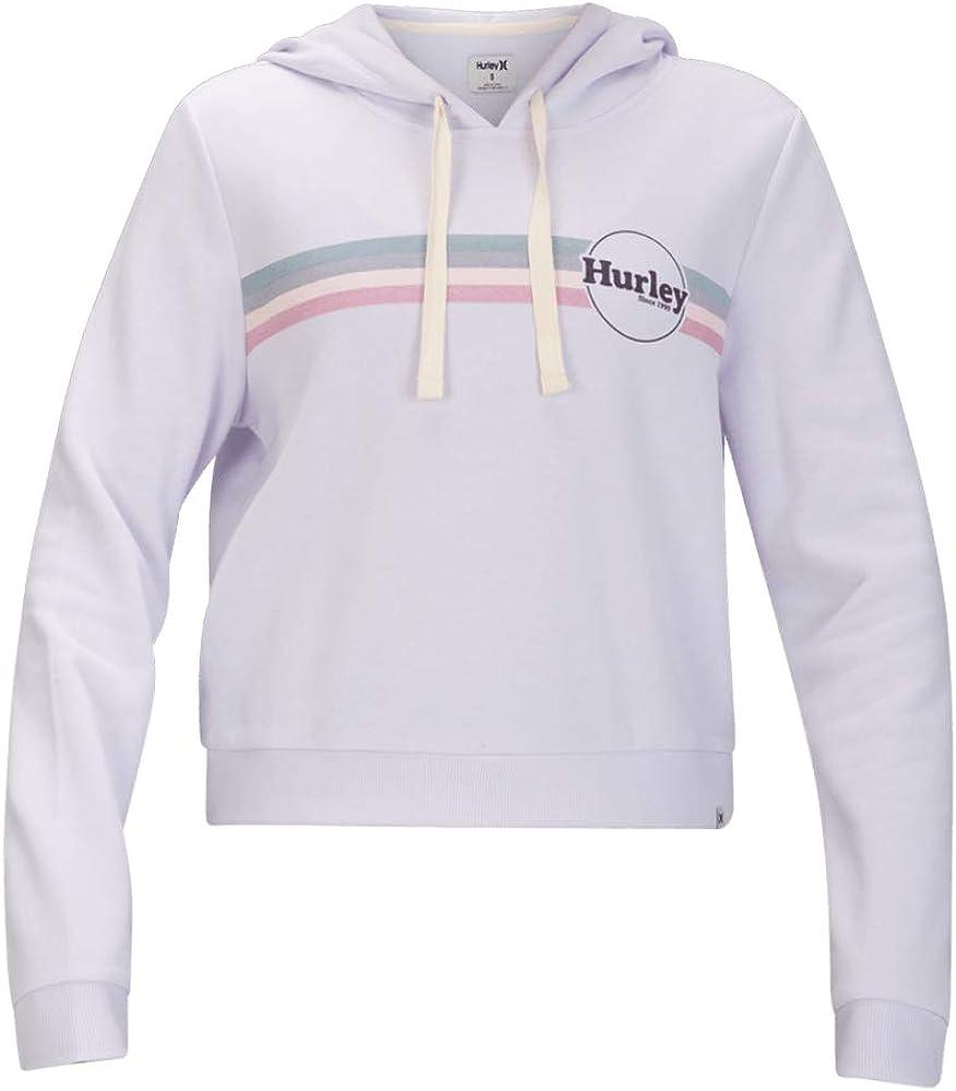 Hurley Women's Jammer Stripe Perfect Fleece Crop PO Hoodie