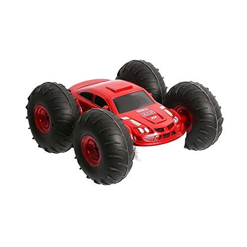Sharper Image Toy Radio Control 2-in-1 Vehicle Flip Stunt Rally Car - Red