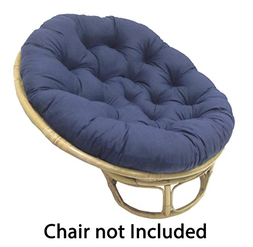Papasan Navy Overstuffed Chair Cushion Sink Into Our