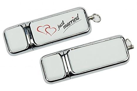 Hochzeit USB-Stick Just Married. Größe 8GB