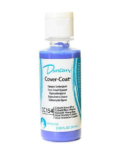 Coat Cover Opaque Underglaze - Duncan Cover-Coat Opaque Underglazes cobalt navy blue 2 oz. [PACK OF 4 ]