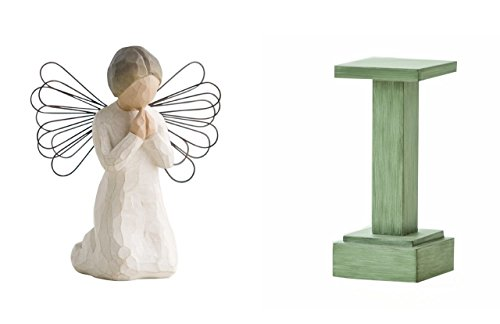 Willow Tree Angel of Prayer and Nativity Stand by Willow Tree
