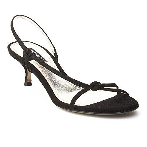 Dolce & Gabbana Women's Suede Kitten Heel Slingback Shoes (Dolce Gabbana Shoes Women)