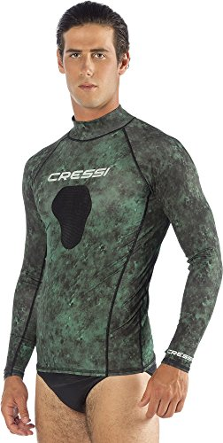 Cressi Hunter Rash Guard, camo green, - Sleeve Tri Suit Long