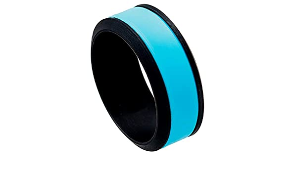 One Silicone Ring 8mm Wide Jewelry Avalanche Thunderclap Mens Blue Dome Stepped Edge Silicone Wedding Rings 2.4mm Thickness 1
