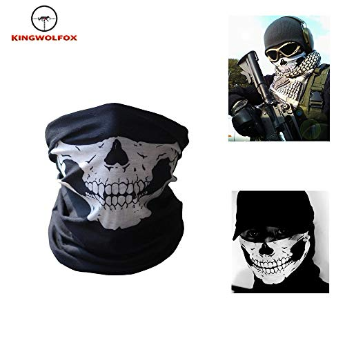 Kingwolfox Skeleton Ghost Skull Face Mask Biker Balaclava Costume Halloween Cosplay COD
