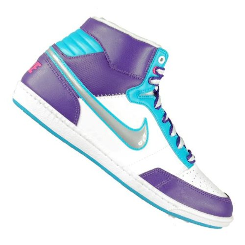 Nike Zapatillas double team lt hi blanco / morado / azul