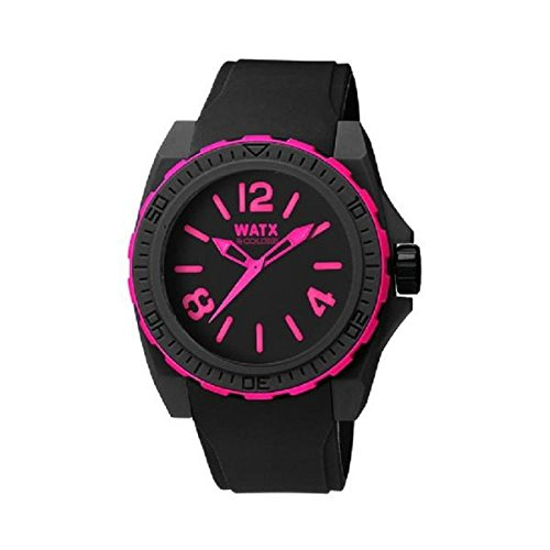 Watx Reloj Análogo clásico para Mujer de Cuarzo con Correa en Caucho RWA1810: WatxandCo: Amazon.es: Relojes